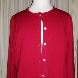 Lands End Cardigan, red size S